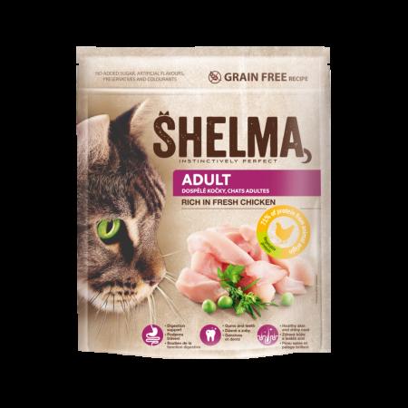 Shelma -  Croquettes Sans Céréales riches en poulet Chat adulte 750 gr